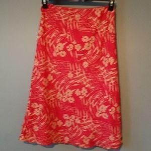 3/$20🧡  i.e. Petites 100% Silk Skirt MP Red Beige